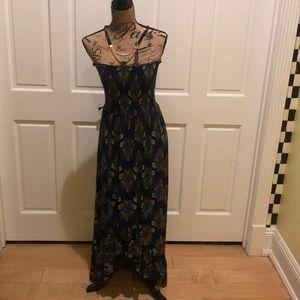 Dresses & Skirts - Navy Blue Printed Maxi Dress